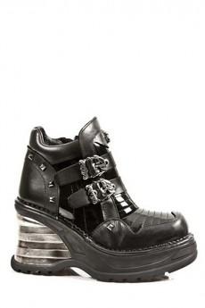 Ботинки с ремешками женские (100% кожа)