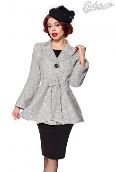 Пальто в стиле Ретро с поясом Belsira