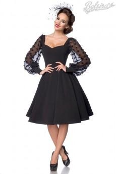 Винтажное вечернее платье с длинным рукавом B5485