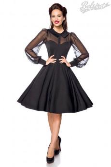 Нарядное винтажное платье с длинным рукавом B5488