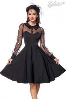 Нарядное винтажное платье с вышивкой B5489