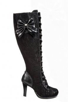 Кружевные сапоги со шнуровкой