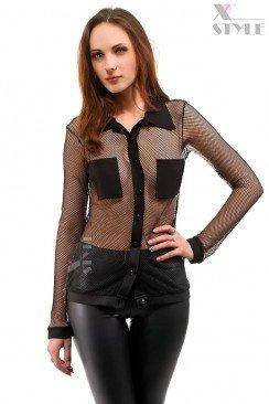 Рубашка женская в сетку X-Style