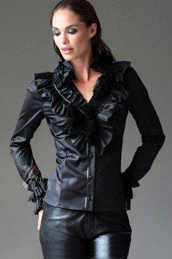 Блузка под кожу 101138
