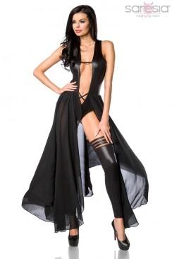 Откровенное платье-боди и гетры Saresia