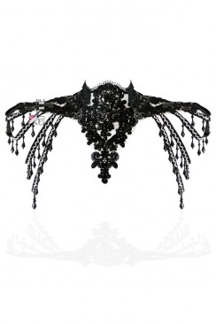 Ажурное болеро-ожерелье с бисером X4115