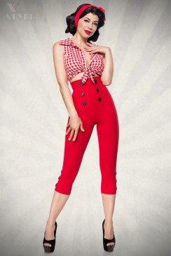 Красные брюки в стиле Ретро