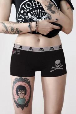 Короткие спортивные шорты Miss Skull