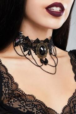 Ажурное ожерелье с цепочками DL6237