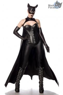 Костюм Bat Girl (корсет, леггинсы, мантия, перчатки, маска)