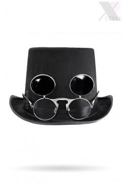 Мужская шляпа-цилиндр с откидными очками