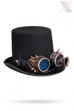 Мужская шляпа-цилиндр с гогглами и монокуляром