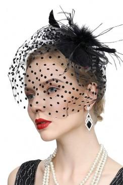 Вечерняя шляпка с вуалью Artistic