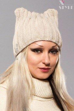 Зимняя шапка с ушками XA2051