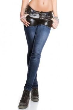 Синие джинсы с шортами MF8110