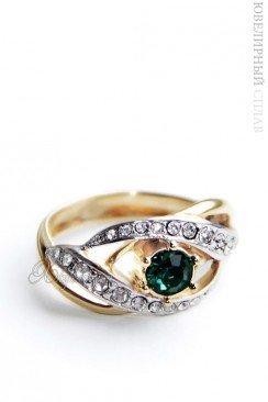 Позолоченное кольцо Swarovski jenh805q0