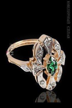 Кольцо с позолотой и родием Jenavi