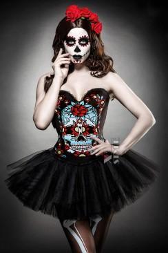 Корсет на Хэллоуин Miss Skull