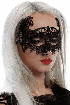 Черная кружевная маска 901021