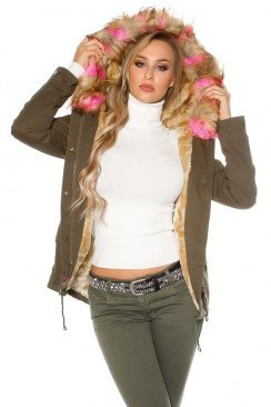 Зимняя куртка парка с мехом MF128