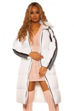 Зимняя удлиненная куртка на молнии M2143