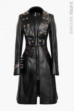 Женский кожаный плащ X-Style