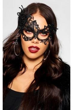 Ажурная черная маска A1088