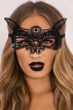 Карнавальная маска с ушками CC1055