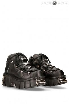 Кожаные ботинки на платформе New Rock
