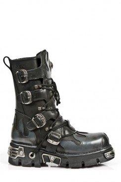 Комбинированные ботинки из натуральной кожи