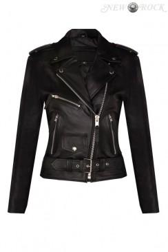 Женская байкерская куртка из натуральной кожи N2033