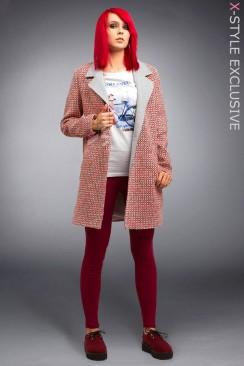 Демисезонное пальто из хлопкового твила X4035