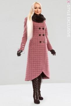 Винтажное пальто с корсетом и мехом X-STYLE