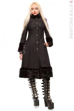 Зимнее пальто с корсетом и мехом Xstyle