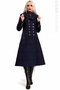 Шерстяное зимнее пальто женское X5060