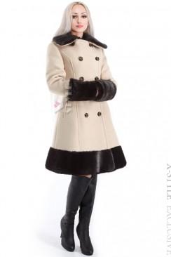 Зимнее приталенное кашемировое пальто X-Style