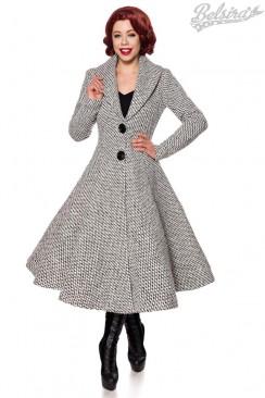 Винтажное женское пальто с воротником-шалью