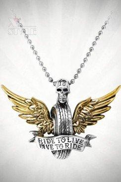 Кулон Ride To Live (ручная работа)