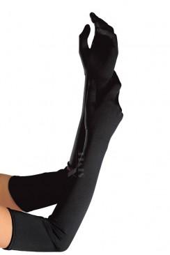 Длинные черные перчатки XA1078