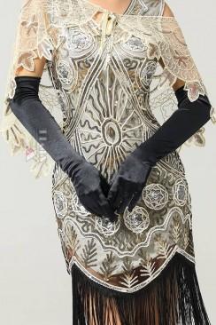 Длинные перчатки в стиле Ретро U1179