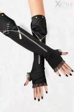 Длинные перчатки с молниями