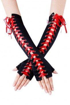 Перчатки с красной шнуровкой CC1157