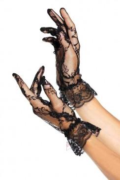 Ажурные черные перчатки A1178