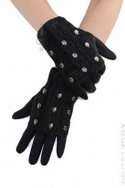 Двойные шерстяные перчатки