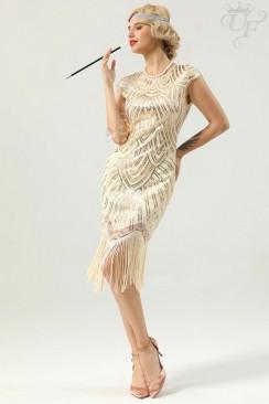 Платье с пайетками в стиле Гэтсби (шампань)