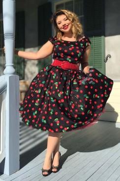 Платье Рокабилли с карманами и поясом XTC5356