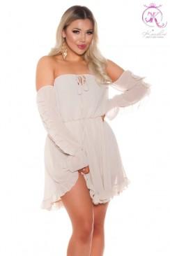 "Короткое платье беби долл с вырезом ""Кармен"" KC503"