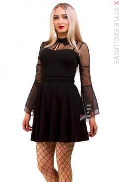 Короткое платье с сеточкой X-Style