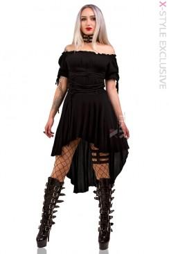 Платье с открытыми плечами X439