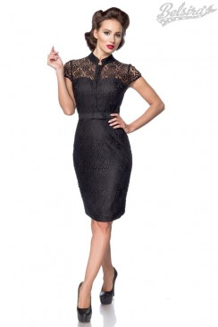 Ажурное черное платье BS5480